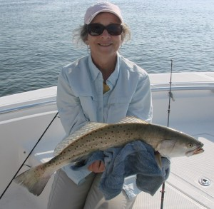 Paulette O'ConnorCitation Speckled Trout 26 inches 5 lbs. 6 oz.  June 11, 2012