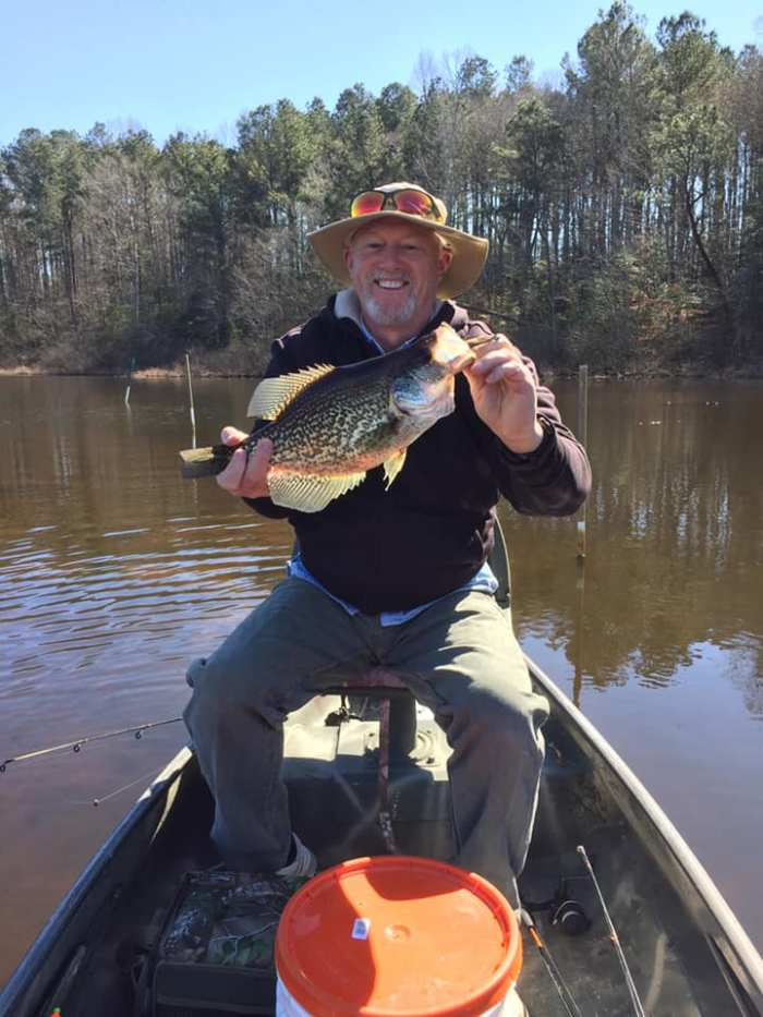 Club member Bruce Belt caught this nice citation size crappie.
